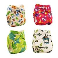 2017 Washable Cloth Nappy Baby Diaper Newborn Baby Washable Baby Pocket Nappy Cloth Reusable Diaper Inserts