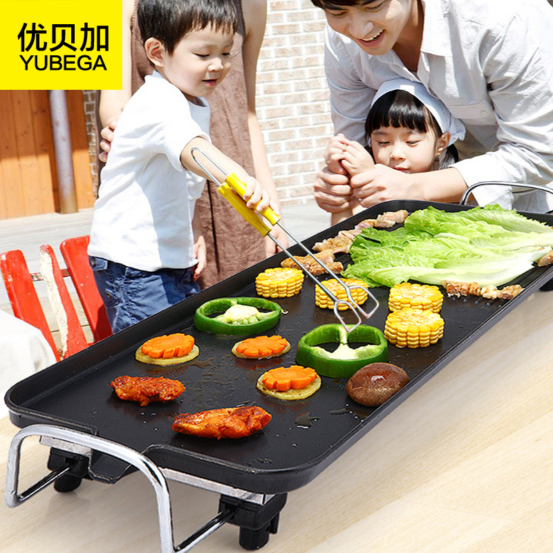 Household Electric Oven Electric Grill Electric Baking Pan Korean Teppanyaki Smoke Free Non-Stick Barbecue Grill foldable bluetooth headphones 4 in 1 wireless headset stereo earphone with mic support two phones connection fm radio tf card