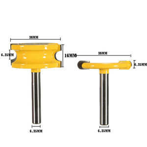 "Image 3 - 2 Pc 1/4 ""Of 1/2"" Schacht Kano Fluit En Kraal Kano Joint Router Bit Cutter Houtbewerking Bits Hout frees"