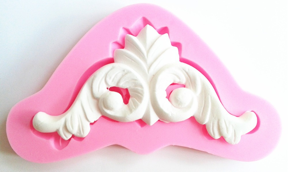 ∞Diseño 842 estilo europeo alivio Encaje silicona molde, azúcar ...