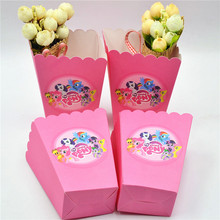 6pcs popcorn box/cup Pony Party Decoration For Kids Happy Birthday Party Supplies ChildFavor Baby Shower