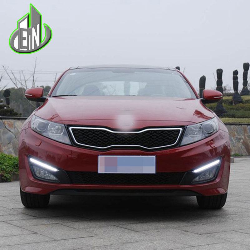 LED DRL For KIA Optima K5 2011 2012 2013 2014 Daytime Running Lights Fog head Lamp cover car styling Daylight блокиратор рулевого вала fortus kia optima 2011 2013 csl 2503