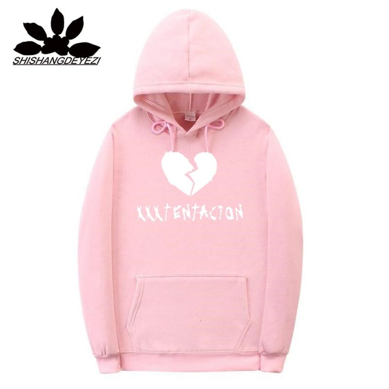 Xxxtentacion Hoodies sad men Sweatshirts rap rapper hip hop Hooded Pullover sweatershirts male/Women Black Khaki Pink hoddie