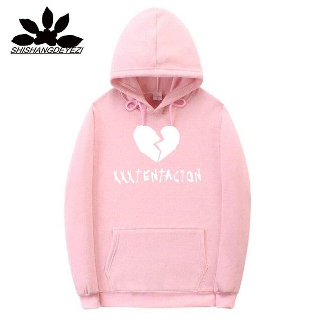 149a8046c9bf Xxxtentacion Hoodies sad men Sweatshirts rap rapper hip hop Hooded Pullover  sweatershirts male Women Black Khaki Pink hoddie
