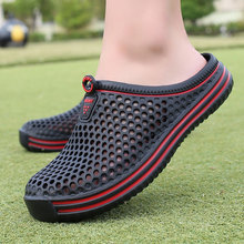 Men's Summer Shoes Sandals 2018 New Breathable Men Slippers Mesh Lighted Casual Shoes Outdoor slipper On Shoes Beach Flip Flops цена
