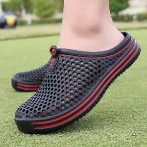 Men Slippers Sandals Shoes Men's Flip-Flops Outdoor Breathable Beach Mesh Casual Lighted