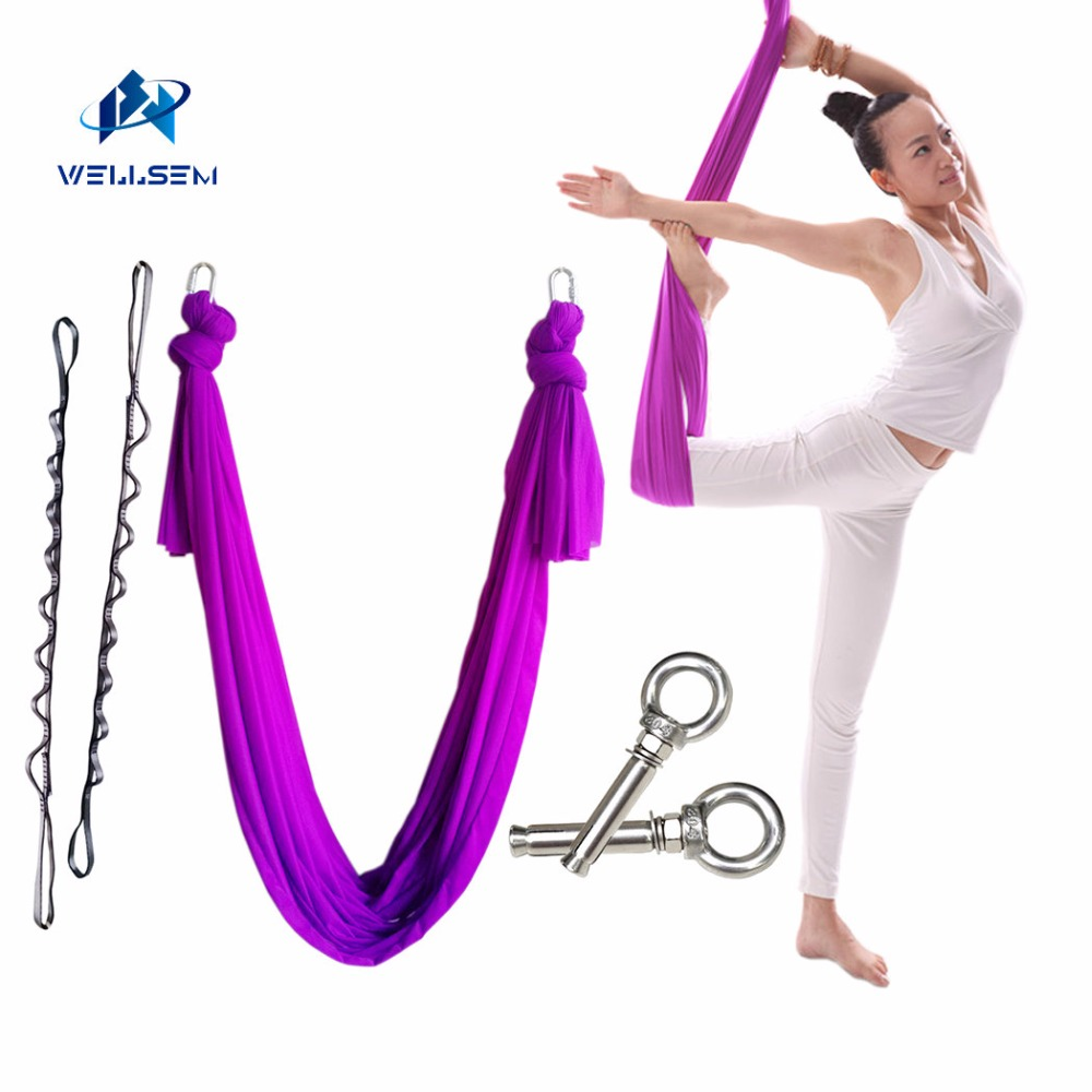 6meter full set flying Yoga Hammock Swing Trapeze AntiGravity Inversion Aerial Traction Device daisy chain carabiner