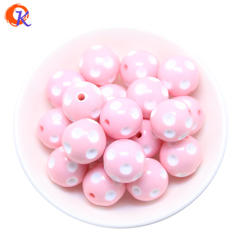 Cordial Design Fashion Jewelry Mixed Color 12MM 14MM 16MM 18MM 20MM Resin Polka Dot Beads For Chunky Beaded Necklace Jewelry 1