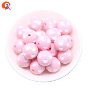 Image 2 - Cordial Design Fashion Jewelry Mixed Color 12MM 14MM 16MM 18MM 20MM Resin Polka Dot Beads For Chunky Beaded Necklace Jewelry