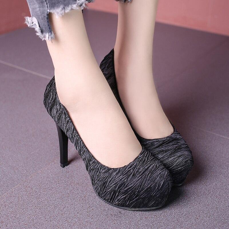 Platform sexy high heels open toe heel banquet shoes high heels women's shallow mouth office shoes C0602 2