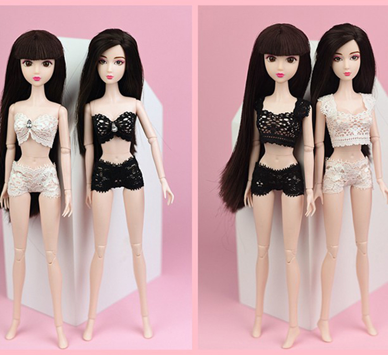 1Set Lace Underwear Vest /& Brief For 1//6 Dolls 1//6 Knickers For Blythe Doll Toy