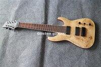 Top quality 8 strings electric guitar, Koa top, Free shipping