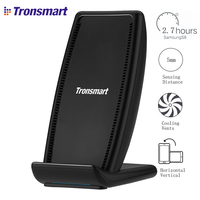 Tronsmart WC01 Quick Draadloze Oplader Power Bank Acculader met Vents voor iPhone X/8 Plus, Galaxy S8, Note 8, Qi-Enabled