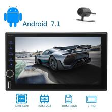 2GB 32GB Android 7.1 2Din,In Dash Car Stereo Radio GPS Navigation Support 4G WIFI Bluetooth Built-in microphone FM Rear Camera