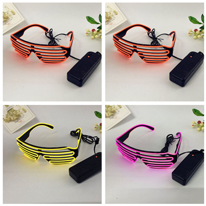 LED Glasses Light Up Shades EL Flashing Luminous Rave Wedding Party Indoor & Outdoor Night Shows & Activities Christmas decors