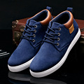2016 Men Shoes High Top Lace Up Men Casual Shoes Flats Comfortable Black Flock Solid Color British Comfortable Shoes Men