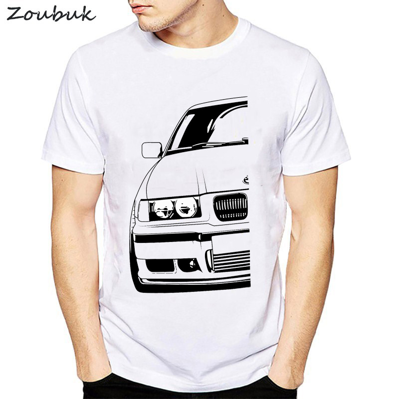Cool Automotive Car Turbo E30 E36 E46   t     shirt   men Anime   T  -  shirts   plus size tee   shirt   homme classic Vintage TShirt Men Camisetas