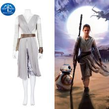 2016 Womens Outfit Rey Cosplay Costume The Force Awakens Adult Women Halloween