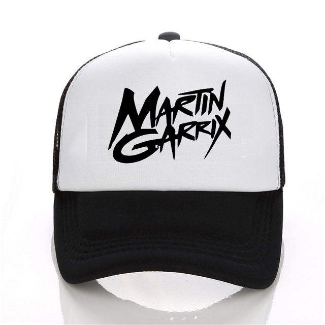 2017 Men Baseball Cap Fashion Music DJ Martin Garrix Logo Black White Hat Snapback