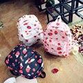 Japão Harajuku Bonito Da Lona Mochila para Adolescente Menina Morango Cereja Frutas Kawaii Mochila Mochila de Viagem Mochila Escolar Q045