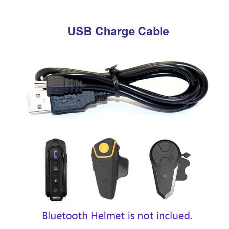 Motorcycle Bike Helmet Accessories USB Charge Cable Suit For  BT-S2 BT-S1 BT-S3 Bluetooth Intercom Motorcycle Helmet Headset