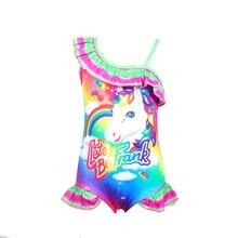 2019 New Toddler Unicorn children swim for girl one piece baby girls unicorn kid bathing suit swimming costume 0373