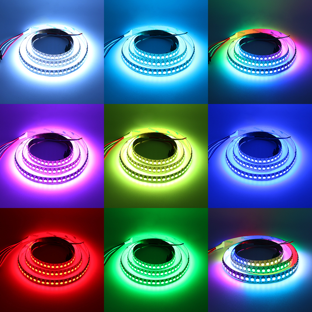 W2812B DC 5V RGB LED Pixel Strip Light 2812 IC 144LEDs Dream Color LED Strip Light 1M