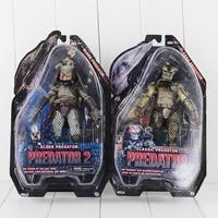 2pcs/lot NECA Alien Predator 2 Classic Elder Predator Action Figure Toys Collectible Model Figurines With Gift Box 7 18cm