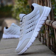 Los hombres zapatos de la raya Ligera tenis Para Correr de Malla Transpirable Zapatos Casuales adultos parejas zapatos de los hombres más el tamaño