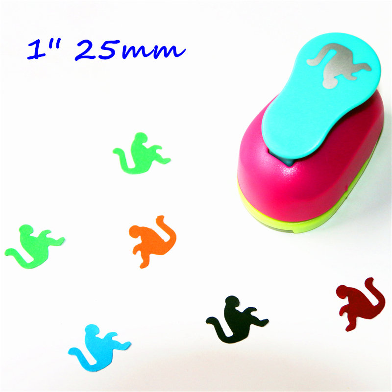 1 Inch Monkey Design Eva Foam Punch Paper Punches Scrapbooking Cutter Hole Punch Craft Punching For DIY Artwork