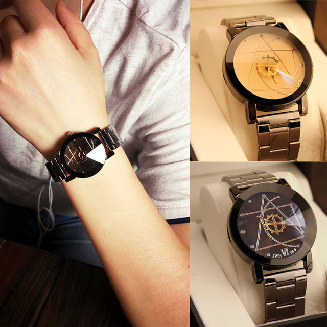 New Luxury Men Stainless Steel Watch Fashion Christmas Gift Stainless Steel Watc
