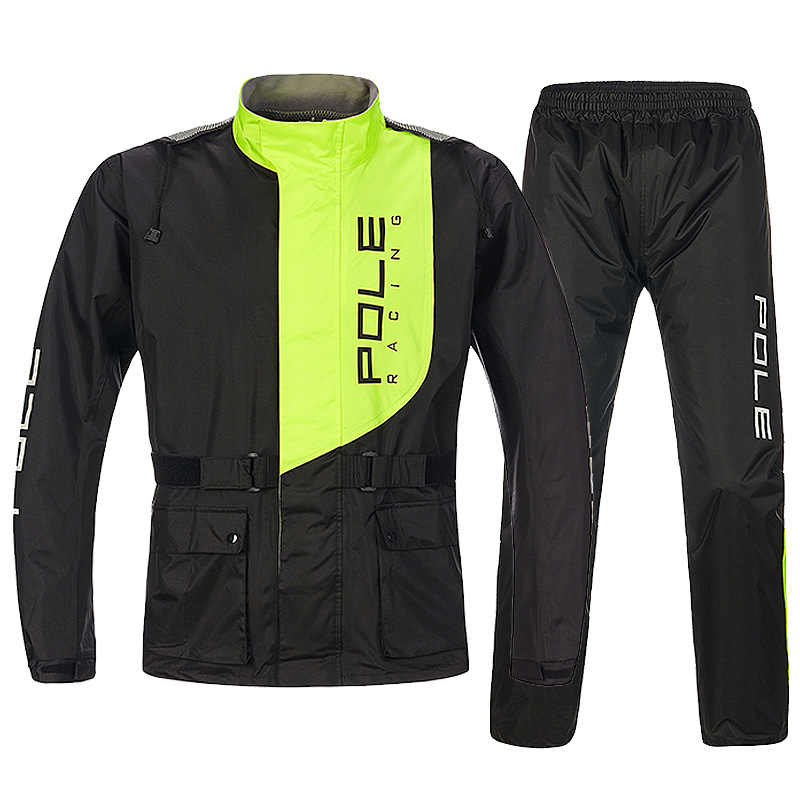 POLE Motorcycle Raincoat Breathable Split Type Jacket Pants Motocross Raincoat Rain Suit Motorbike Raincoat Suits Men To Woman