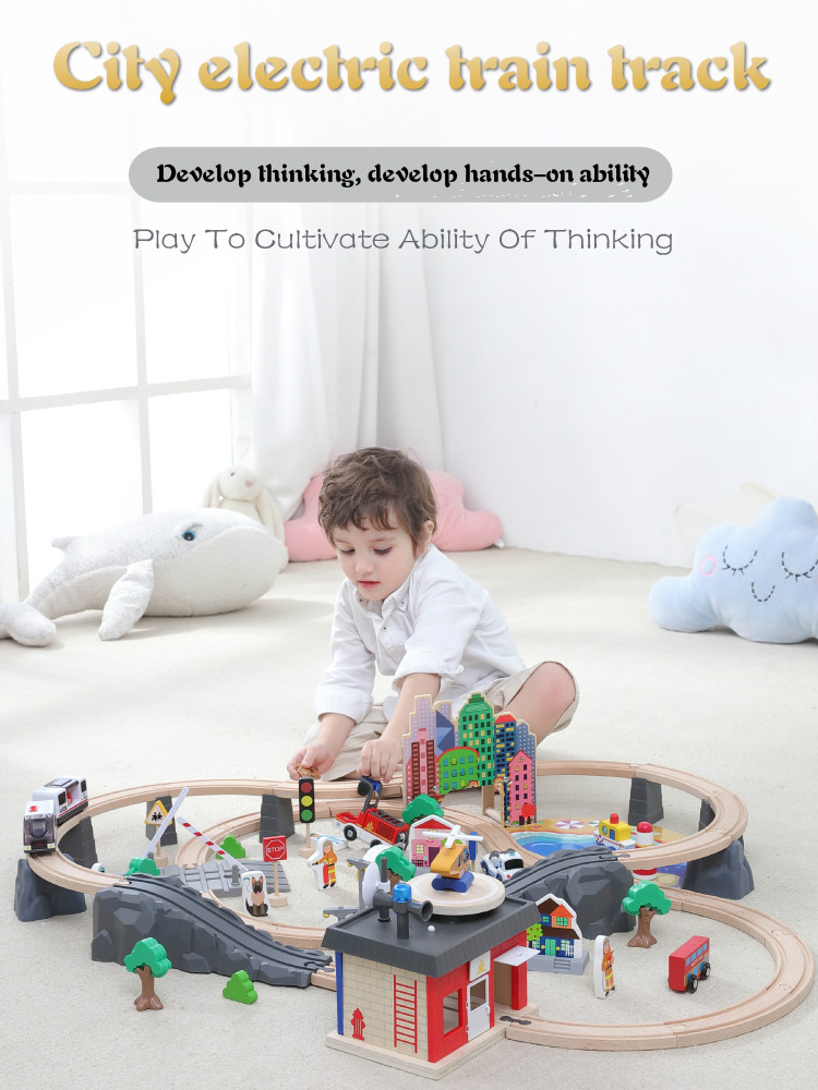 Wooden Toy Electric Train Track Suit 1-7 Years Old Childrens Magnetic Train Diecast Slot Toy Rail Car Wooden Train Tracks SetWooden Toy Electric Train Track Suit 1-7 Years Old Childrens Magnetic Train Diecast Slot Toy Rail Car Wooden Train Tracks Set