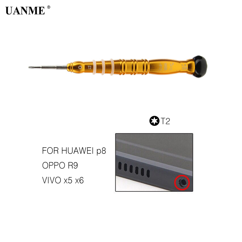 UANME 1Piece Precision Magnetic Screwderiver T2 T3 T4 T5 T6 0 8 Torx 1 3 1 5 Phillips For iPhone Samsung Huawei Vivo Repair Tool in Screwdriver from Tools