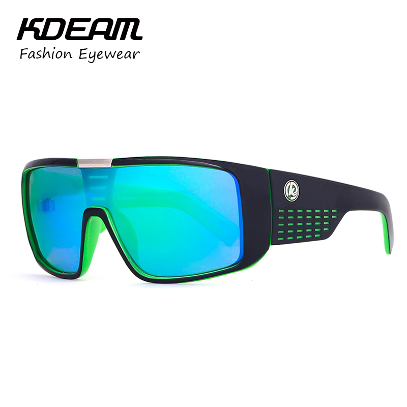 365d94e9517 2018 Cool Brand Men Sport Goggle UV400 Sunglasses Big size Sports Sun  Glasses KDEAM Windproof Glasses 7 colors with Case KD999 купить на  AliExpress