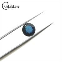 1.35 ct natural dark blue sapphire loose stone VS grade Chinese sapphire gemstone