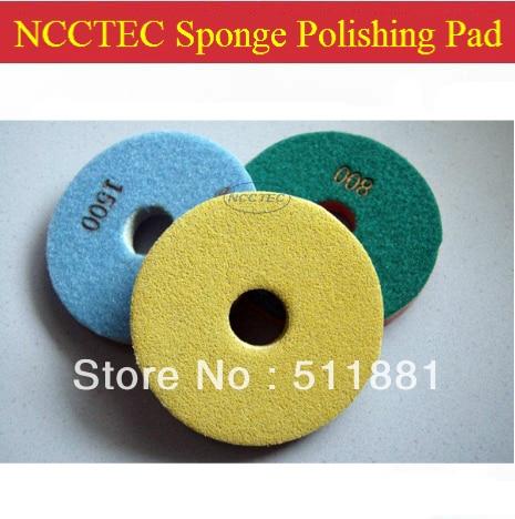 6'' Wet Diamond Sponge Scouring Polishing Pad For Concrete Marble Granite FREE Shipping | 150mm Diamond Sponge Pad