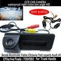 Alça mala do carro reverso sem fio HD ccd estacionamento retrovisor handle câmera do carro para Skoda Fabia Octavia Roomster superb Yeti Audi A1