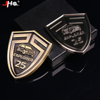 JHO Hood Logo Sticker 25th Anniversary 3D Metal Grille Emblem for New Ford Explorer 2016 Grill Badge Car Styling Accessories