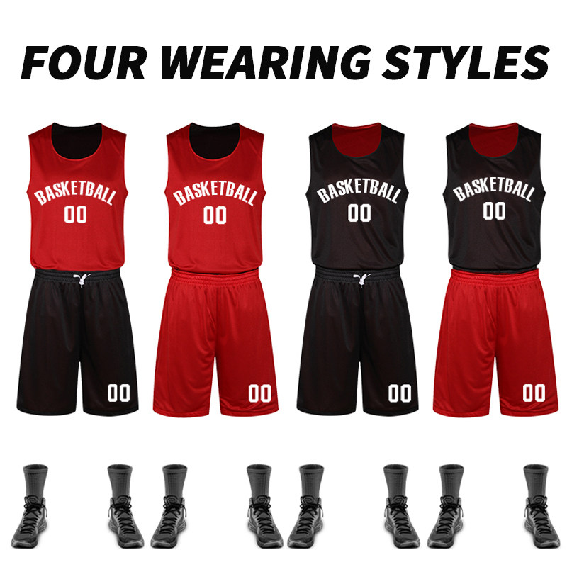 a3ef680c8 Basketball Uniforms Reversible Basketball Jerseys Throwback College Basketball  Jerseys Team Training Sportsear Print Name Number