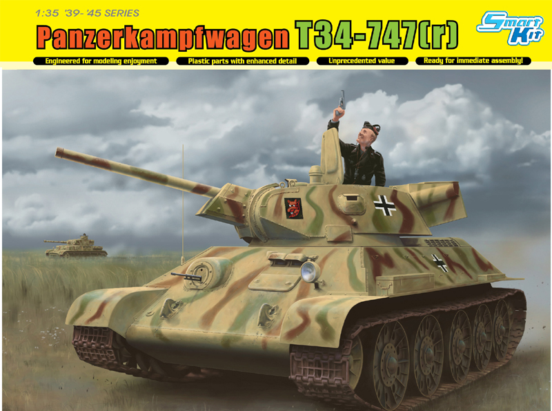 Dragon <font><b>model</b></font> 6449 1/35 scale Panzerkampfwagen <font><b>T34</b></font>-747(r) image