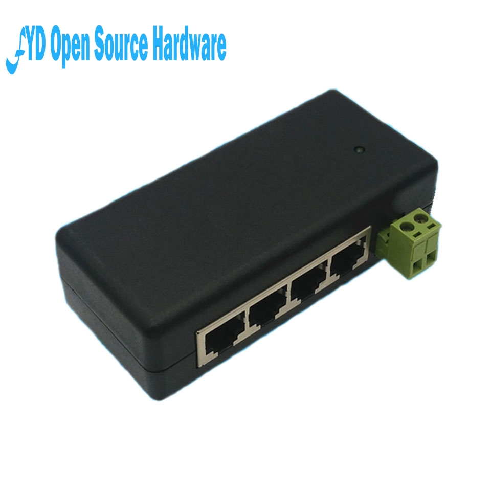 1pcs 4 LAN Ports Passive Power Over Ethernet Module Injector DC 9-48V IP Camera Power supply PoE switch adapter PoE box1pcs 4 LAN Ports Passive Power Over Ethernet Module Injector DC 9-48V IP Camera Power supply PoE switch adapter PoE box
