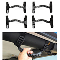 4PCS 2017 Fashion Black Front + Rear Grab Handle Bar Holder For Jeep Wrangler JK YJ TJ 1987-2016