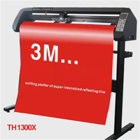 110V/220V TH1300X Cutting Plotter With Stand Garment /Silhouette Reflective media Cuttter Machine Auto contour 50 500mm / s