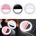 Selfie selfie smartphones anel led super brilhante luz da noite escuridão melhorar a fotografia com flash de luz do anel