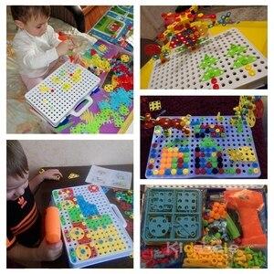 Image 4 - ילד צעצועים חשמלי תרגיל צעצועי סימולציה כלי צעצוע התאסף להתאים DIY דגם ערכת חינוכיים בניין צעצועי סטי דופק צעצועים