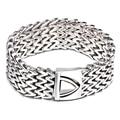 AliLujah Punk Bracelet Men Titanium Steel Vintage Rock Bangle Chains Mens Jewelry For Rapper 22.5cm KB58224