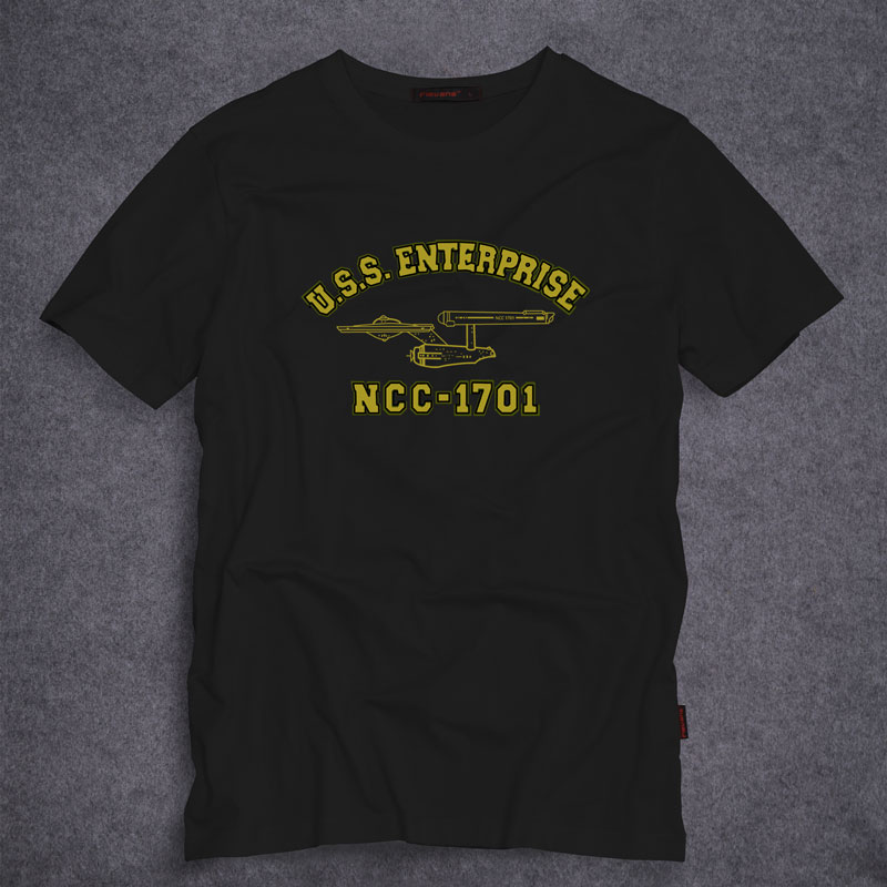 50c6386a Star Trek U.S.S. Enterprise NCC 1701 T Shirt Men's T shirt Tee Tops Short  Sleeves S 5XL-in T-Shirts from Men's Clothing on Aliexpress.com | Alibaba  Group