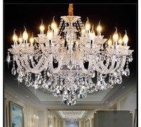 무료 배송 클리어 크리스탈 샹들리에 거실 lustre sala de jantar cristal 현대 샹들리에 조명 홈 인테리어