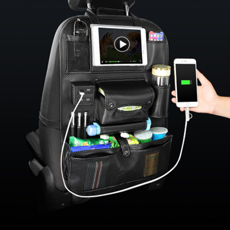 Car seat bag hanging bag car seat back body bag car supplies multi-functional car storage box